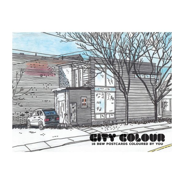 City Colour postcard coloring book